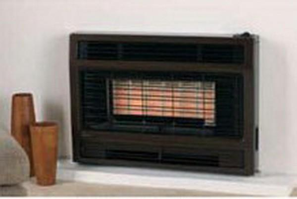 Image of Rinnai 2001 Flued Space Heater 2001IMBN Brown Inbuilt (NG)