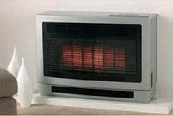 Image of Rinnai Ultima II Flued Space Heater - ULT2IGL - Gunmetal Inbuilt - (LPG)