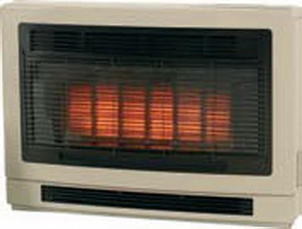Image of Rinnai Ultima II Flued Space Heater - ULT2IL - Beige Inbuilt - (LPG)