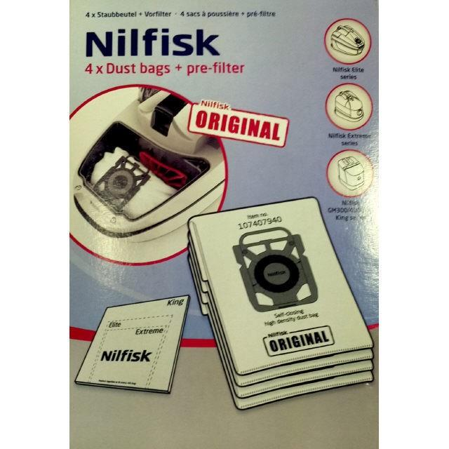 Image of Nilfisk Elite Series Dust Bags - 107407940
