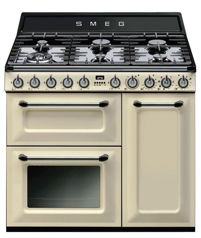 Image of Smeg 90cm Thermoseal Freestanding Cooker - TRA93P *Smeg Classic & Victoria Total 5 Year Warranty Offer