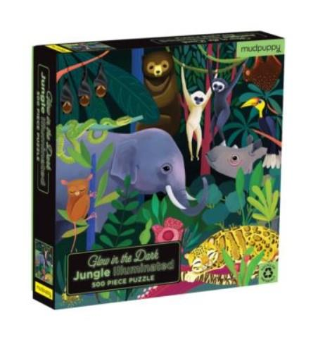 Glow in the Dark Jungle Puzzle 500pc
