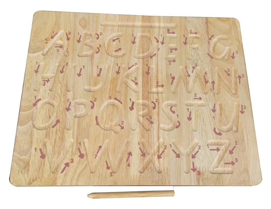 Uppercase Letter Wooden Tracing Board