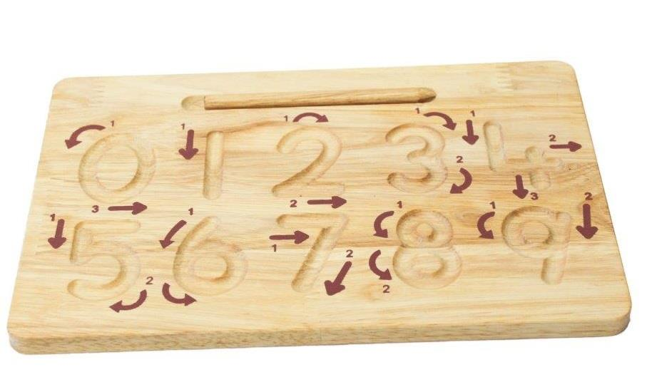 Number Wooden Tracing Board