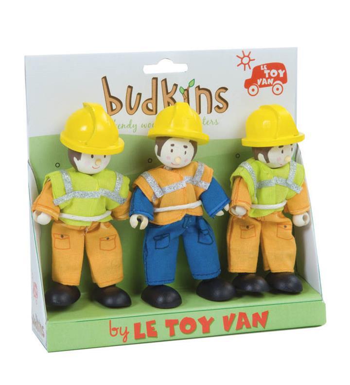 Le Toy Van Budkins Construction Workers Set