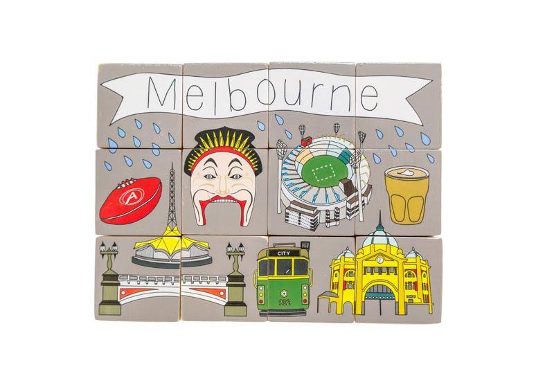Make Me Iconic Melbourne Stacking Blocks