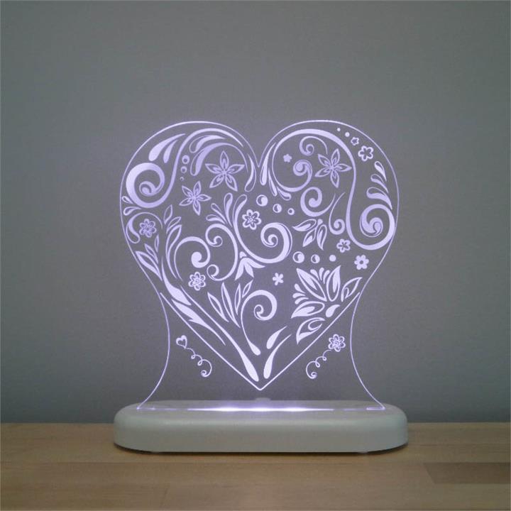 Aloka LED Sleepy Light Loveheart