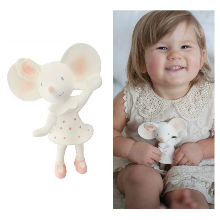 Meiya the Mouse Natural Rubber Squeaker Toy Teether