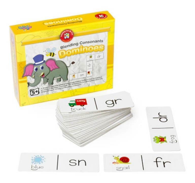 Blending Consonants Dominoes Game
