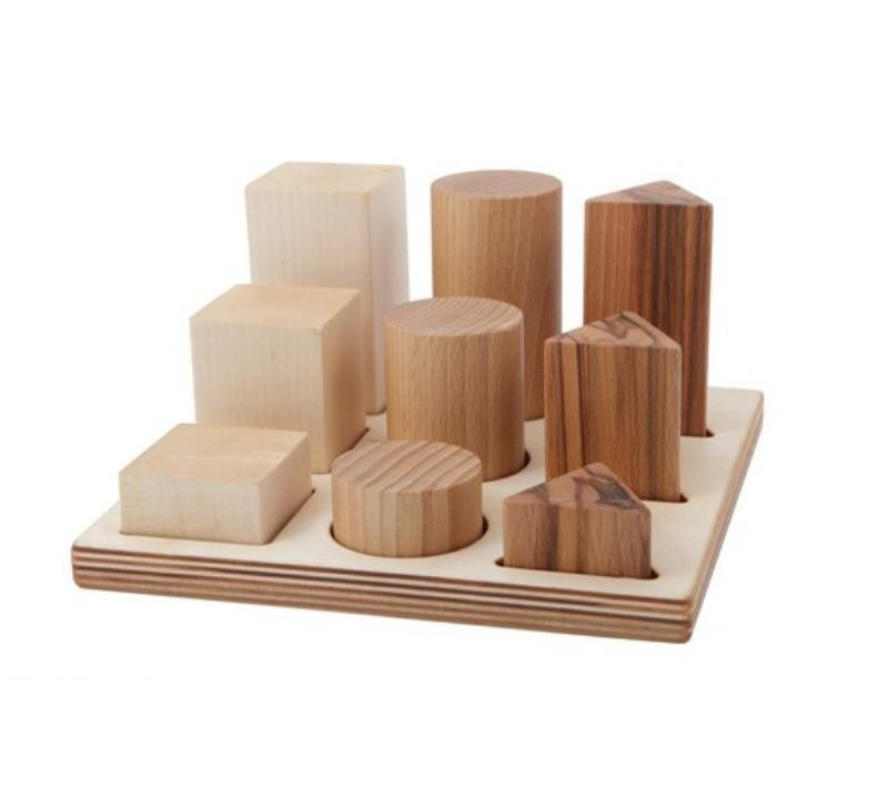 Wooden Story Natural Wooden XL Shape Sorter Board