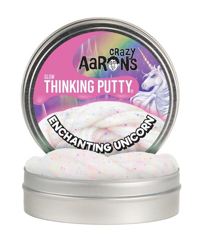 Crazy Aarons Glow Thinking Putty Enchanting Unicorn