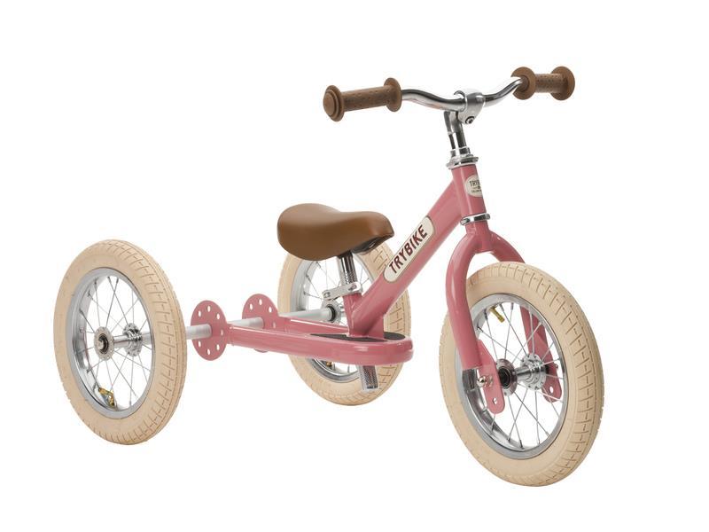Trybike Vintage Pink 2 in 1 Balance Bike