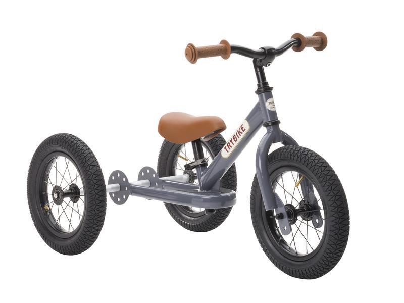 Trybike Vintage Grey 2 in 1 Balance Bike