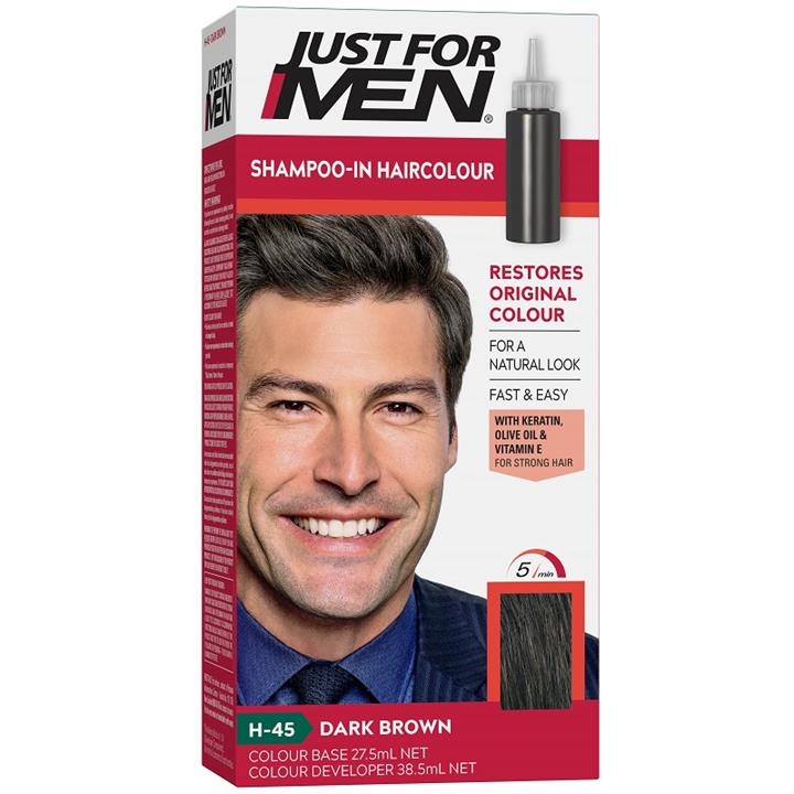 Image of Just For Men Shampoo-In Haircolour (Dark Brown)
