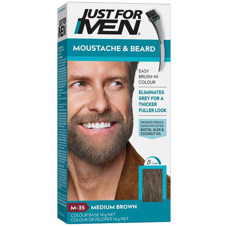 Image of Just For Men Moustache And Beard (Medium Brown)