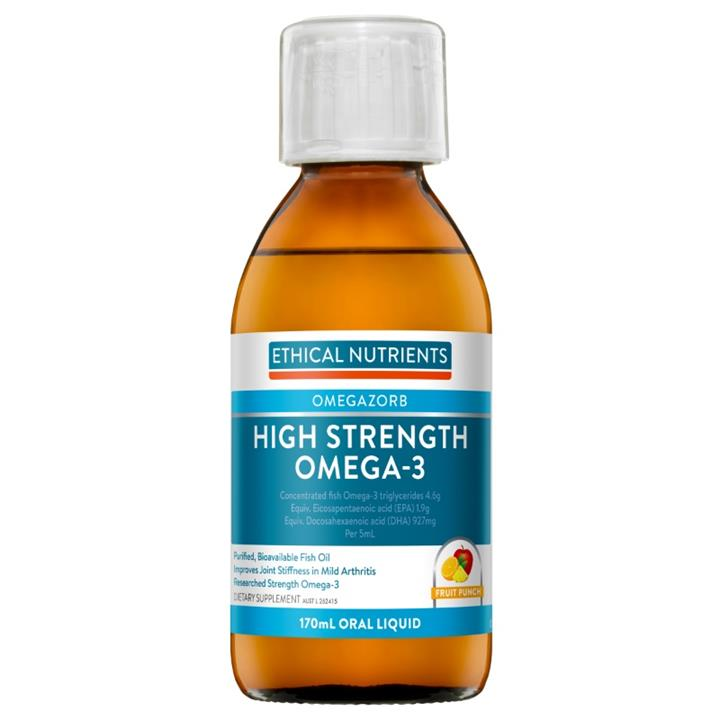 Image of Ethical Nutrients High Strength Omega-3 Liquid (Fruit Punch) 170ml