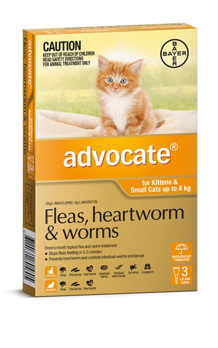 Image of Advocate For Kittens And Small Cats (Up To 4kg) - 3 Pack