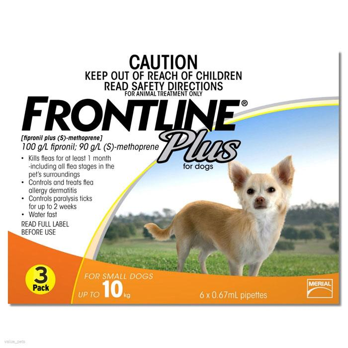 Image of Frontline Plus For Small Dogs (Up To 10kg) - 3 Pack