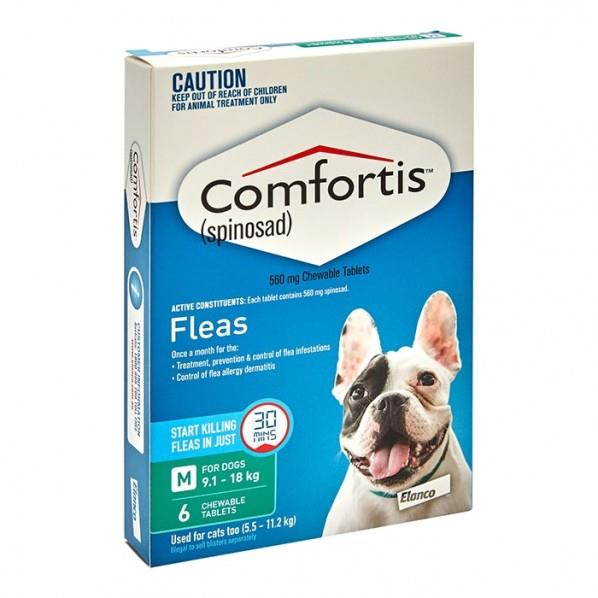 Image of Comfortis Chewable Tab for Medium Dogs 9.1 - 18kg (Green) X 6
