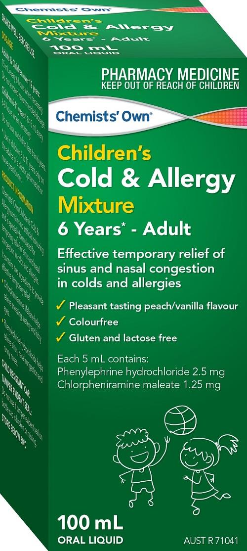 Image of Chemists' Own Children's Cold & Allergy Mixture 100ml