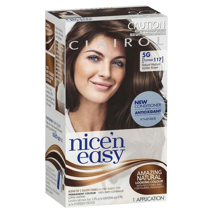 Image of Clairol Nice And Easy 5G Natural Medium Golden Brown
