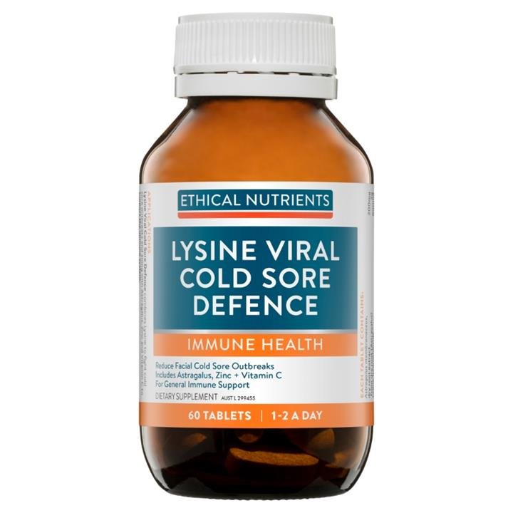 Image of Ethical Nutrients Lysine Viral Cold Sore Defence Tab X 60