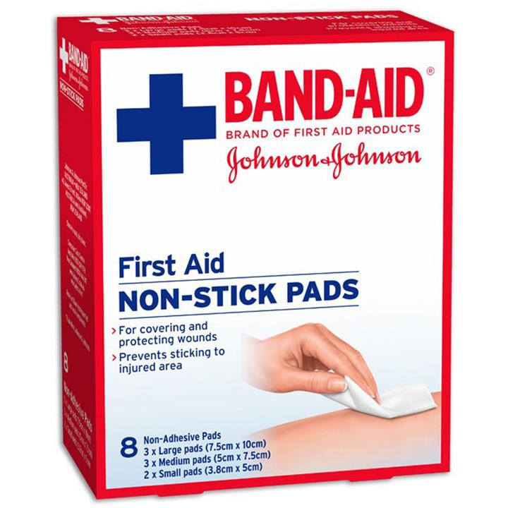 Image of Band-Aid First Aid Non Stick Gauze Pads X 8