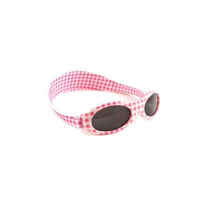 Image of Baby Banz Adventure Pink Check Sunglasses (Baby 0-2 Years)