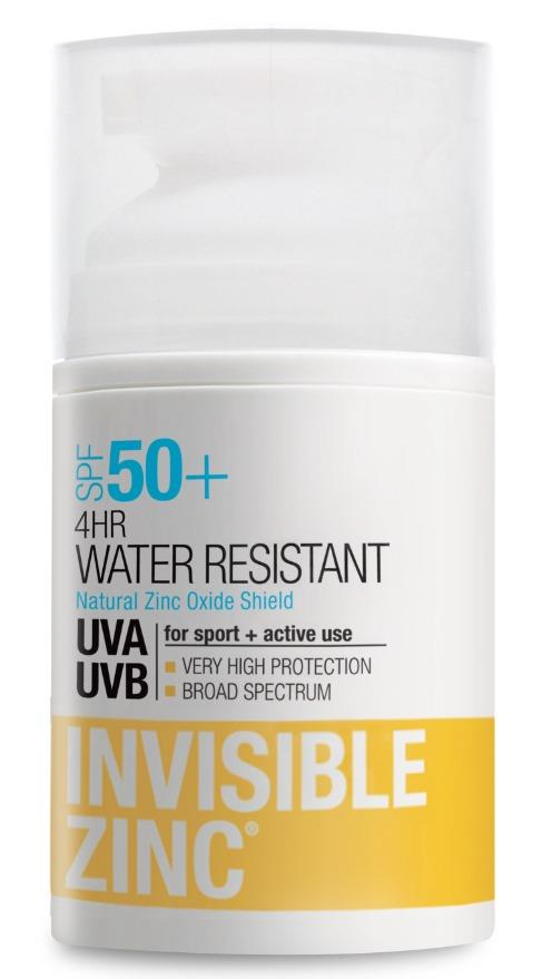 Image of Invisible Zinc 4 Hour Water Resistant SPF 50+ 50ml