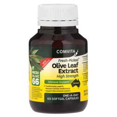 Image of Comvita Fresh-Picked Olive Leaf Extract High Strength Cap X 60