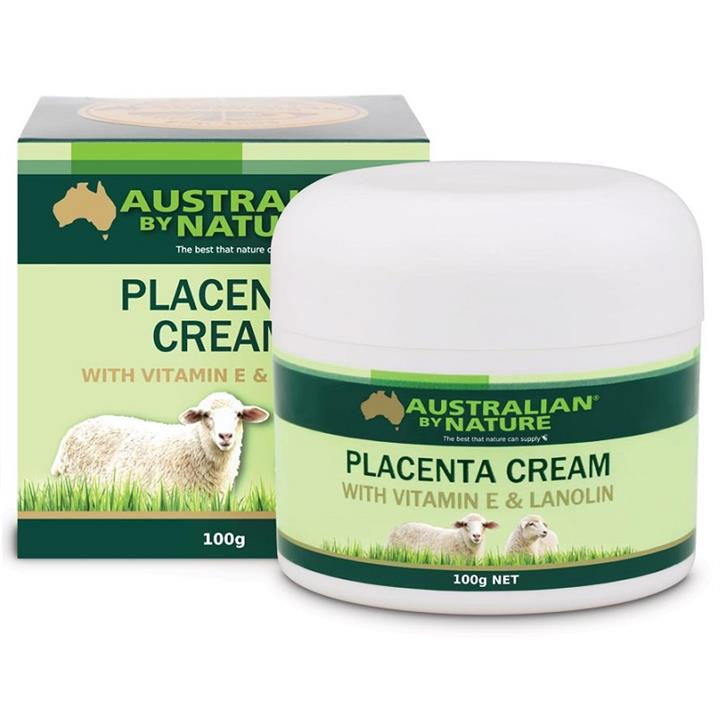 Image of Australian By Nature Placenta Cream with Vitamin E & Lanolin 100g X 6
