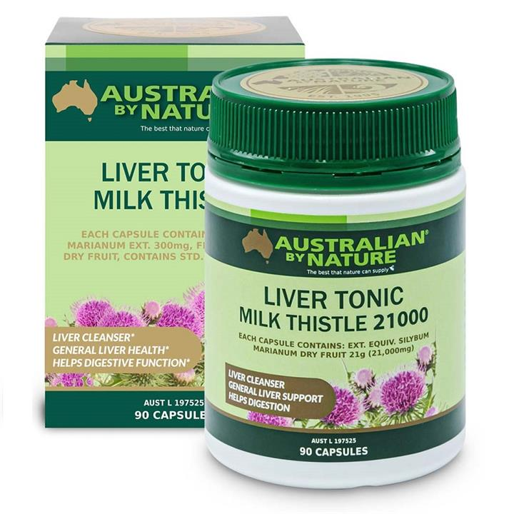 Image of Australian By Nature Liver Tonic Milk Thistle 21,000mg Cap X 90