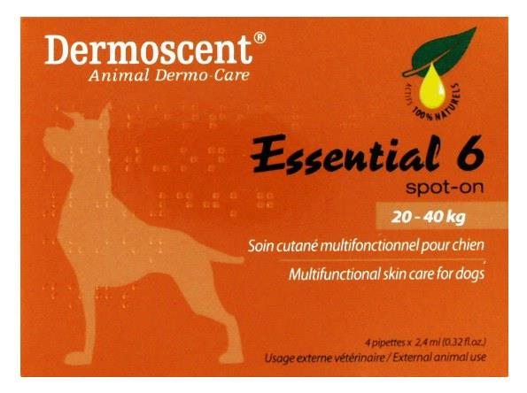 Image of Blackmores PAW Dermoscent Essential 6 Spot-on For Dogs (20-40kg) X 4