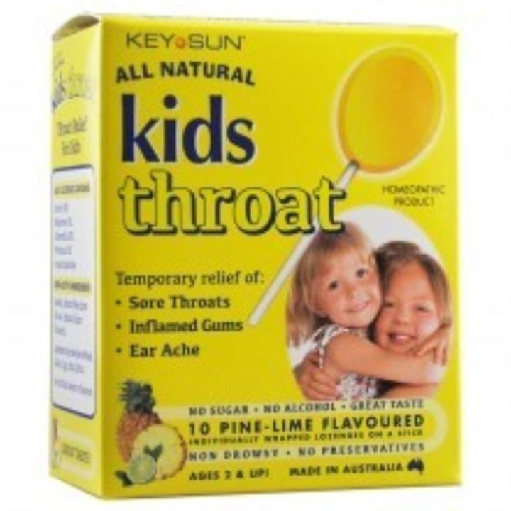 Image of Key Sun Kids Throat Homeopathic Lozenges (Pine-Lime) X 10