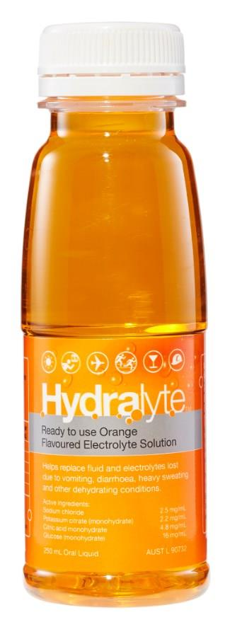 Image of Hydralyte Electrolyte Solution Orange Flavoured 250ml