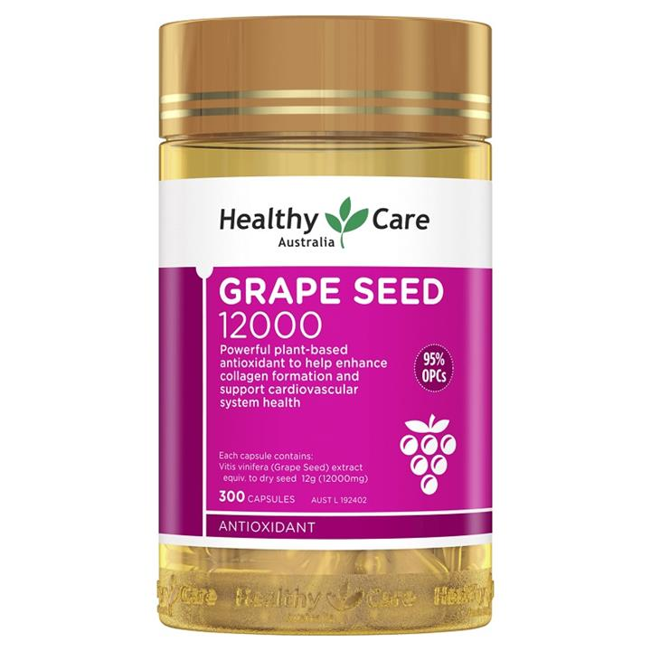 Image of Healthy Care Grape Seed 12000 Cap X 300 (Expiry 01/10/2021)