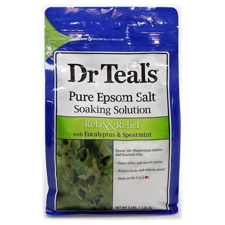 Image of Dr Teal's Pure Epsom Salt Relax & Relief with Eucalyptus & Spearmint 1
