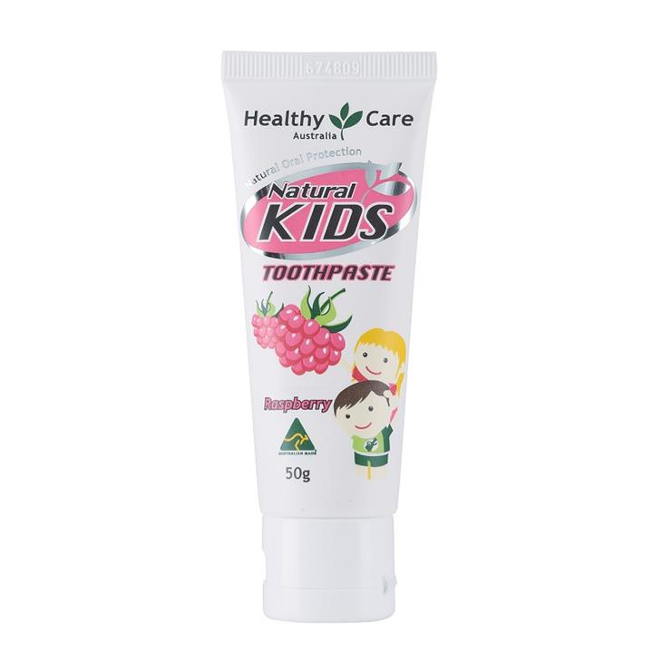 Image of Healthy Care Natural Kids Toothpaste (Organic Raspberry) 50g