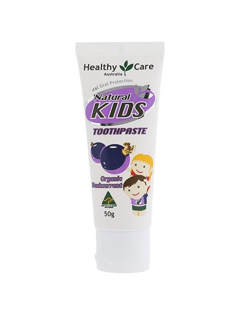 Image of Healthy Care Natural Kids Toothpaste (Organic Blackcurrant) 50g