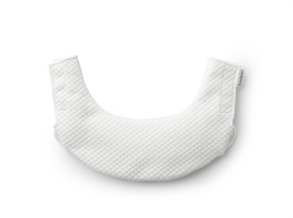 Image of BabyBjorn Teething Bib for Baby Carrier One - White