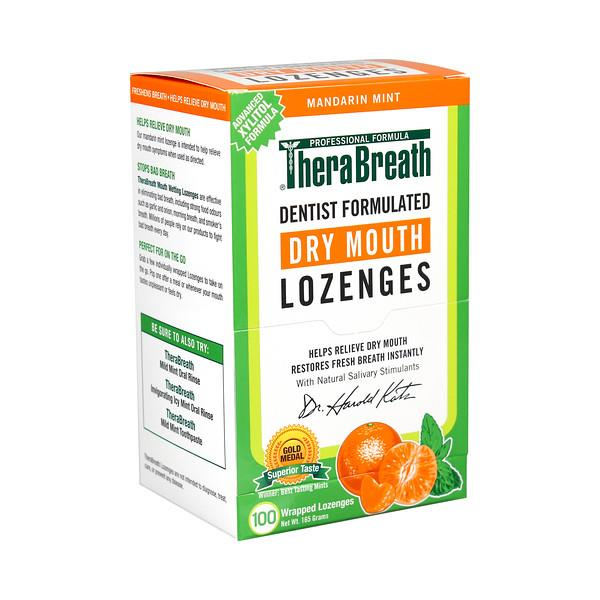 Image of Brauer TheraBreath Dry Mouth Lozenges X 100