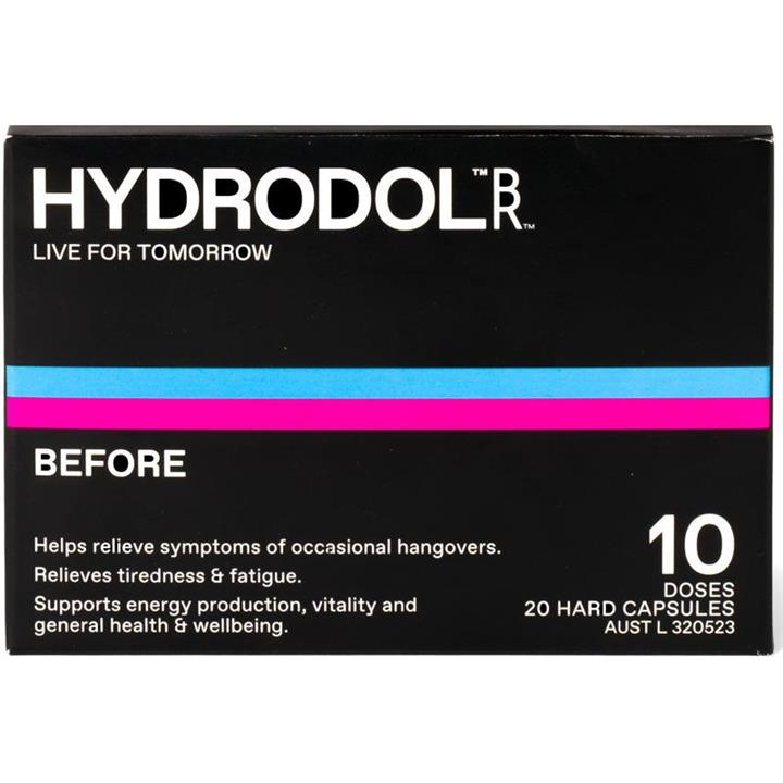 Image of Hydrodol Before Cap X 20 (10 Doses)