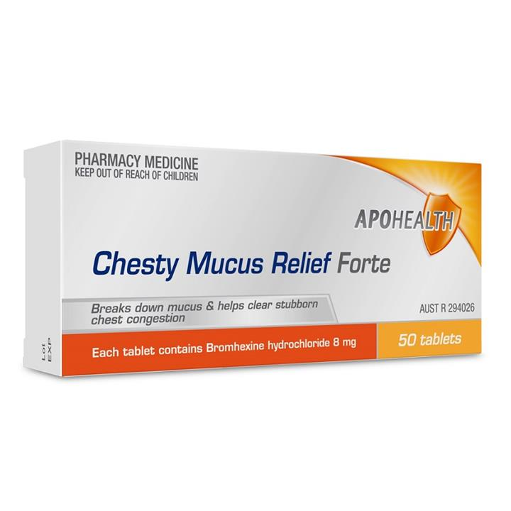 Image of ApoHealth Chesty Mucus Relief Forte Tab X 50