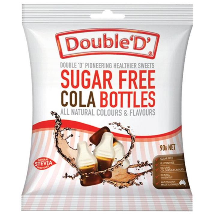 Image of Double 'D' Sugar Free Cola Bottles 90g