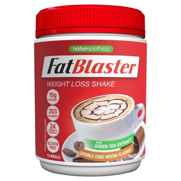 Image of FatBlaster Weight Loss Shake Double Choc Mocha 430g (13 meals)