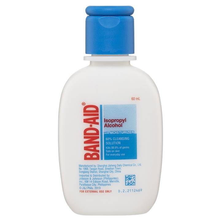Image of Band-Aid Isopropyl Alcohol with Moisturiser 60% Cleansing Solution 60m