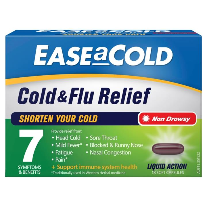 Image of Ease A Cold Cold & Flu Relief Cap X 18