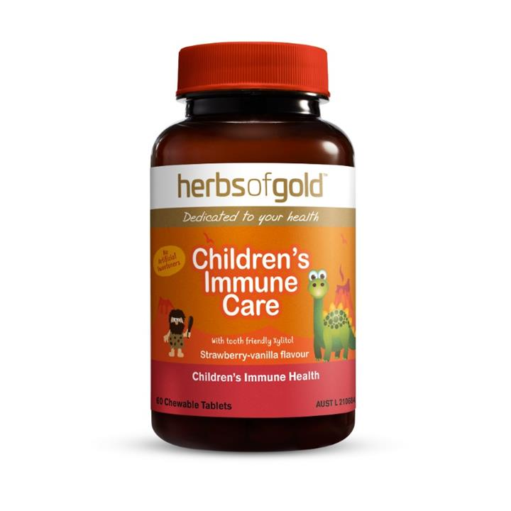 Image of Herbs of Gold Children's Immune Care Chewable Tab X 60