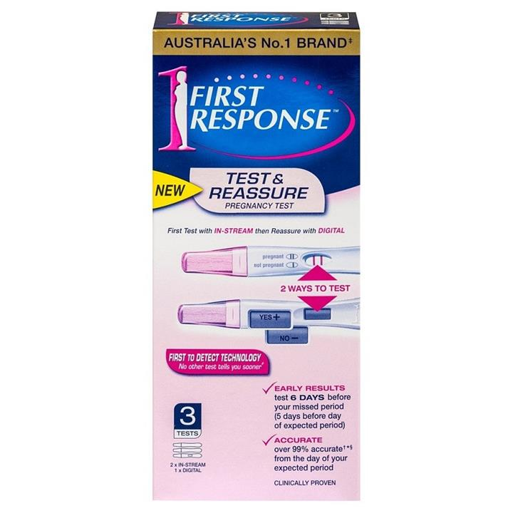 Image of First Response Test & Reassure Pregnancy Test