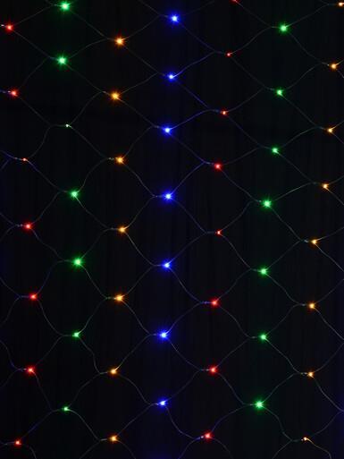 Image of 180 Multi Colour LED Concave Bulb Net Light - 1.8m